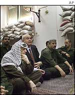 Yasser Arafat at Friday prayers