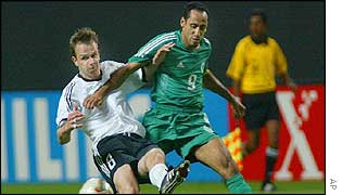 Only veteran striker Sami Al-Jaber troubled the Germans