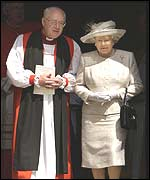 Archbishop of Canterbury Doctor George Carey and the Queen