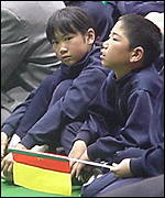 Young Japanese Cameroon fans