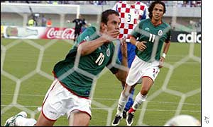 Mexico Cuauhtemoc Blanco scored against Croatia after 60 minutes