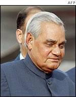 Indian Prime Minister Atal Behari Vajpayee arrives in Almaty