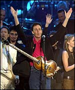 Sir Paul McCartney rocked the crowd