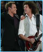 Will Young with Queen rocker Brian May