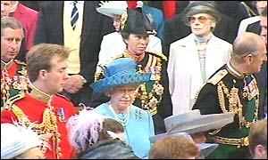 Queen and Duke of Edinburgh in St Paul's
