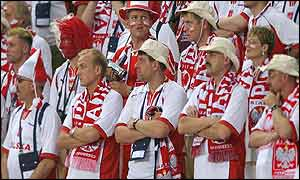 Polish fans are stunned by their team's defeat