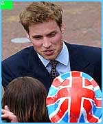Prince William meets the public