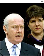 Northern Ireland Secretary Dr John Reid and security minister Jane Kennedy