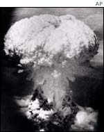 Atomic bomb on Nagasaki