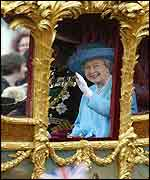 The Queen during a Jubilee procession