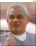 Indian PM Atal Bihari Vajpayee