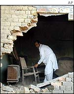House hit by indian mortar in Koi Ratta village