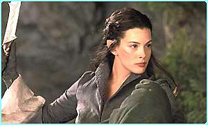 Liv Tyler in Fellowship of the Ring