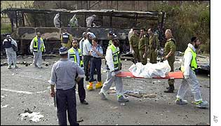 Megiddo bus attack aftermath, June 2002