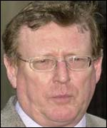 David Trimble after meeting Tony Blair in London