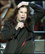 Ozzy Osbourne on stage