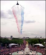 Concorde and the red arrows flypast
