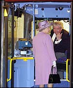 The Queen meets bus driver Tony Farrell