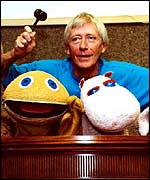 Rainbow's Geoffrey Hayes with Zippy and George