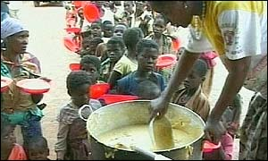 Food being distributed in Malawi