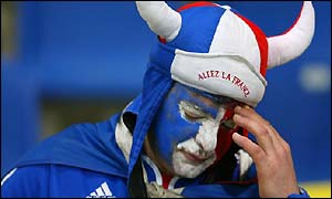 A disappointed France supporter