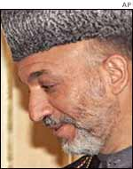 Afghan interim leader Hamid Karzai