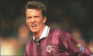 David Winnie in his playing days with Hearts