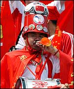 A colourful Chinese fan