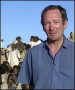 Michael Buerk in Ethiopia in 1984