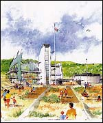 Artist impression of visitor centre