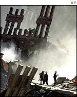 World Trade Center rubble soon after the attacks