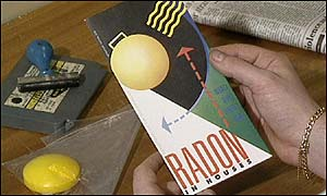 Radon gas warning leaflet