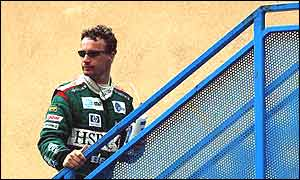 Eddie Irvine is fed up with his uncompetitive Jaguar