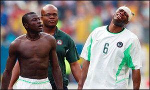 Taribo West (right) was injured