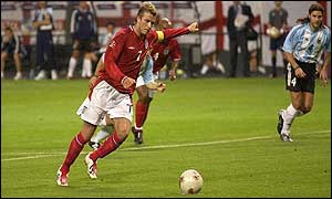 David Beckham steps up to take the decisive penalty