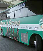 Ireland's team bus