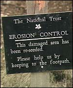 National Trust sign in Cumbria