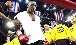 Mike Tyson enters the ring in Memphis