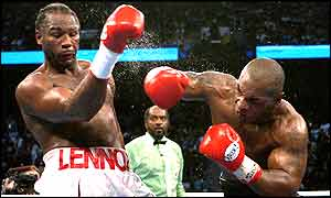 Lewis and Tyson go at each other in round one