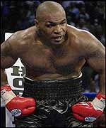 Tyson after his eighth round stoppage