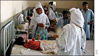 Girl in Pakistani hospital