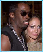 J-Lo with Sean 'P Diddy' Combs before their split