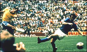 Carlos Alberto scores a memorable goal in the final against Italy in 1970