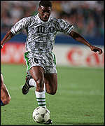 Jay Jay Okocha in action at USA '94