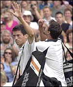Tim Henman lost to Goran Ivanisevic last year