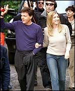 Sir Paul McCartney and Heather Mills