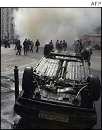 Moscow after hooligans riot