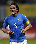 Paolo Maldini is expected to lead Italy out against Croatia