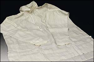 Napoleon's shirt - on sale at Sotheby's