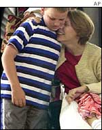 Gracia Burnham with her youngest son, Zach, 11